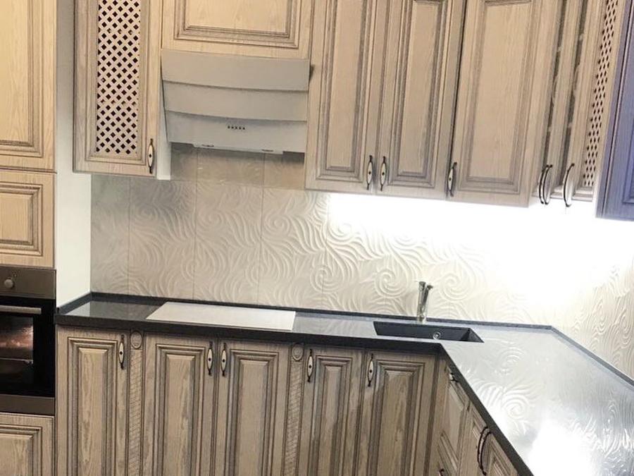 Встроенная кухня-Кухня МДФ в ПВХ «Модель 58»-фото4