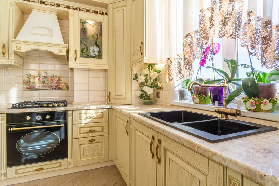 Бежевые кухни-Кухня из шпона «Модель 3»-фото7