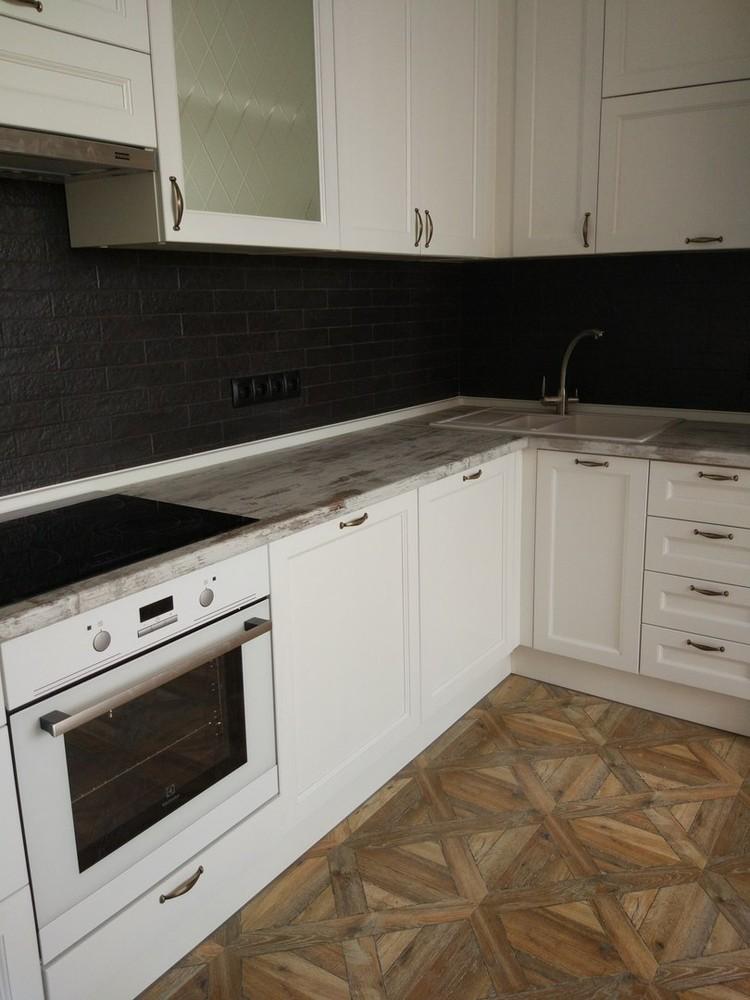 Белый кухонный гарнитур-Кухня из массива «Модель 218»-фото3