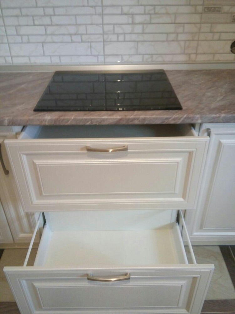 Белый кухонный гарнитур-Кухня МДФ в ПВХ «Модель 228»-фото4