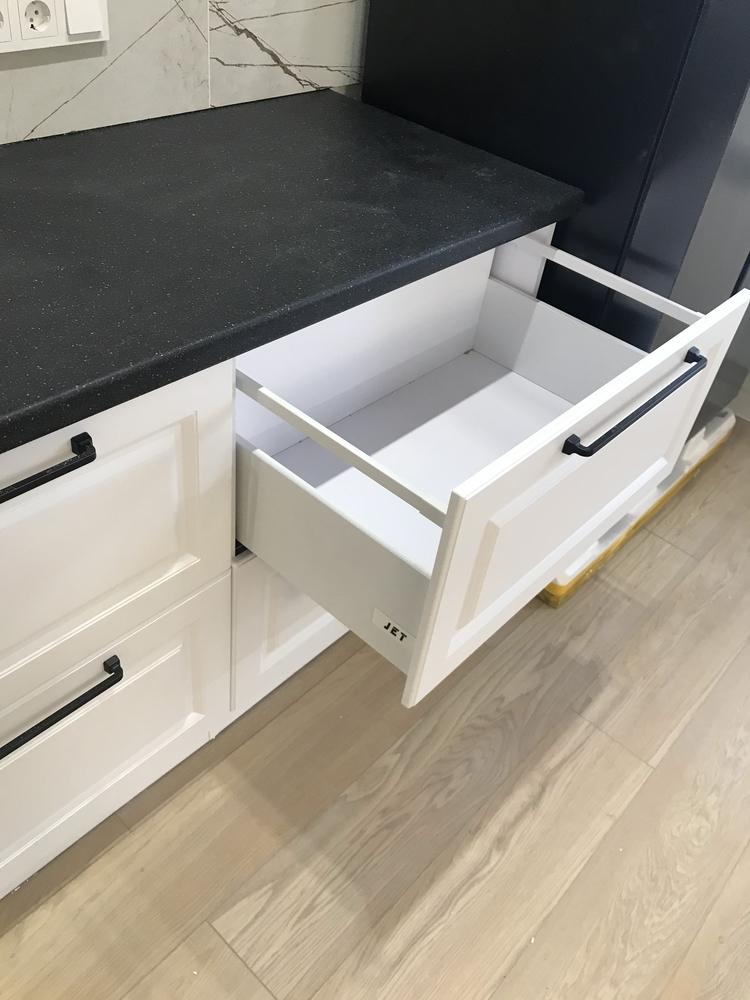 Белый кухонный гарнитур-Кухня МДФ в ПВХ «Модель 553»-фото7