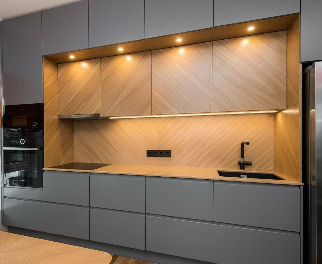 Встроенная кухня-Кухня МДФ в эмали «Модель 628»-фото3