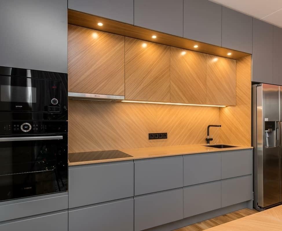 Встроенная кухня-Кухня МДФ в эмали «Модель 628»-фото2