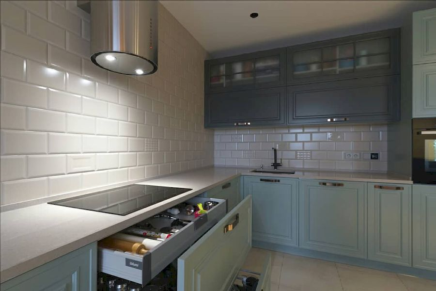 Классические кухни-Кухня МДФ в эмали «Модель 683»-фото4