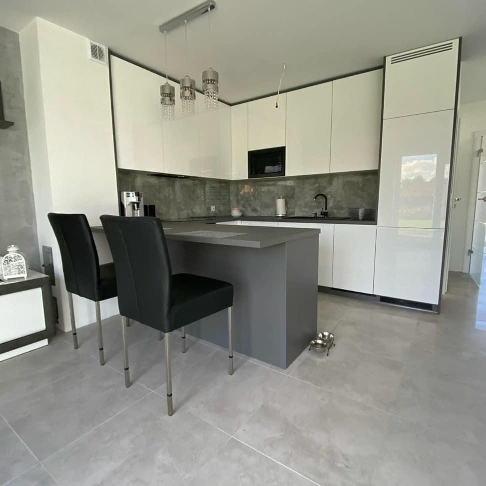 Белый кухонный гарнитур-Кухня МДФ в эмали «Модель 627»-фото1