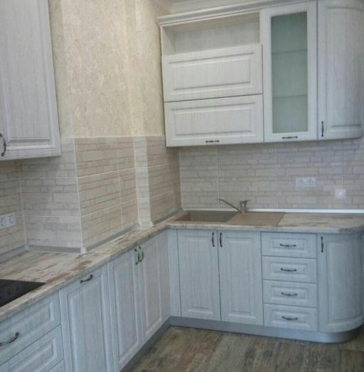 Белый кухонный гарнитур-Кухня МДФ в ПВХ «Модель 224»-фото3