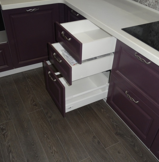 Классические кухни-Кухня МДФ в ПВХ «Модель 518»-фото9
