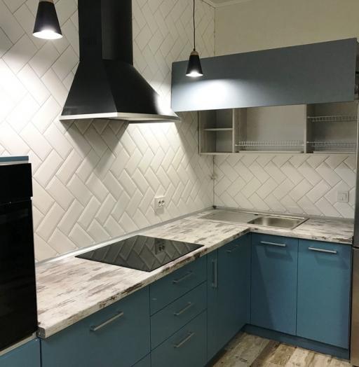 -Кухня из пластика «Модель 373»-фото7