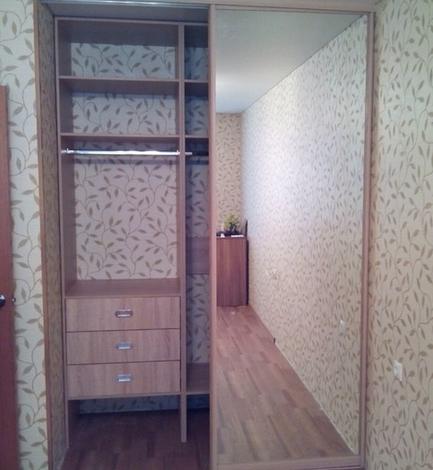 Встроенные шкафы-купе-Шкаф-купе с зеркалом «Модель 116»-фото4