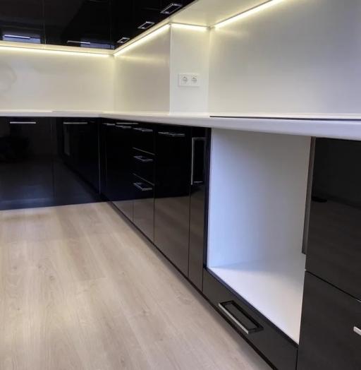 Глянцевые кухни-Кухня МДФ в ПВХ «Модель 569»-фото5