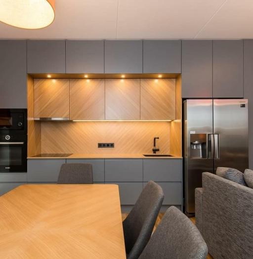 Встроенная кухня-Кухня МДФ в эмали «Модель 628»-фото5